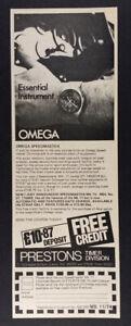 1974 Omega Speedmaster Mk II ST Chronograph vintage print Ad