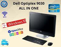 "DELL OPTIPLEX 9030 ALL IN ONE 23"" INTEL CORE i5 4th GEN 8GB RAM 256GB SSD Webcam"
