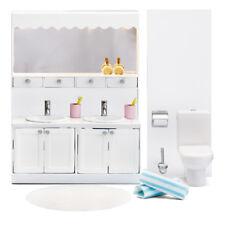 Lundby Smaland 60.2052 Bad Set WC - Waschtisch für Puppenhaus 1:18
