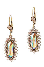 Michal Negrin Earrings Drop/Dangle White Swarovski Crystals #100171551003