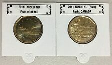 CANADA 2011 New Complete set 2 x Loonie (BU directly from mint roll)