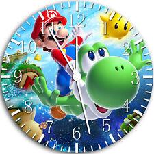 "Super Mario Yoshi wall Clock 10"" will be nice Gift and Room wall Decor W69"