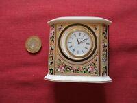 Wedgwood Clio Fine Bone China Mantle/Desk Clock, Boxed S/S 6033, Design 88