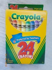 NOS Box of 24 Crayola Crayons including Dandelion, Advertises Twistables on Back