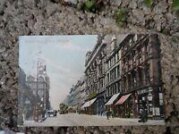 Old Postcard Glasgow - sauchiehall street - early colour postcard Scotland
