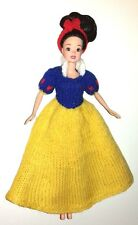 "KNITTING PATTERN FOR BARBIE, DISNEY PRINCESS, 11 or 12"" DOLL: SNOW WHITE"