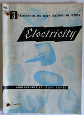 1955 ELECTRICITY vol. 3 Examination & Study Questions in Physics booklet
