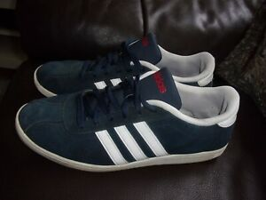 Adidas VL Court Navy Blue & White Suede mens trainers size 11