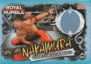 Nakamura Topps WWE Slam Attax live Ring Mat Relic Memorabilia RMFA