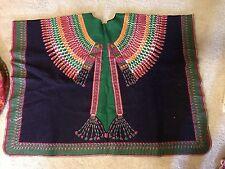 Vtg AaBe Holland Fiberwoven Poncho Native American Design Texoprint Wool ? Rare