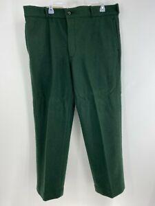 Vintage JOHNSON WOOLEN MILLS Famous Spruce Green Wool Hunting Pants Mens 40x30