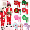 Toddler Kids Boy Girl Christmas Pyjamas Pjs Xmas Sleepwear Nightwear Pajamas Set