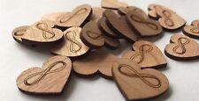 50 Streuteile Holz Herz Tischdeko Unendlichkeitszeichen Dekoherzen unendlich