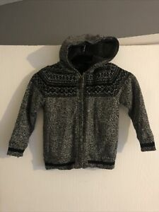 Boy's Hooded Cardigan Age 6-7 Years - George- Lovely Thick Cardigan
