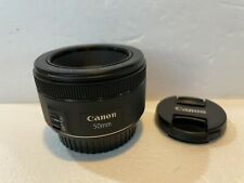 Canon EF 50mm f1.8 STM Lens Mint Condition w/Caps LOOK!