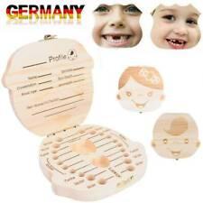 Holz Zahndose Junge - Milchzahn Dose Milchzähne Box Zahn Döschen Geschenkidee DE