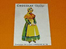 CHROMO CHOCOLATS COOP 1932 COSTUMES LORRAINE NANCY METZ