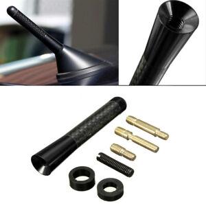 """3"""" Carbon Fiber Black Aluminum Screw Car Radio Short Antenna Aerial Universal"""