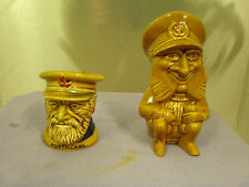 Set Of Two Toby Jugs, One 'Portcawl Captain' And One 'Torquay Full Body' Jug