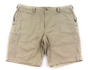 Duluth Trading Co Flex Ballroom Khakis Mens 44 Chino Shorts Tan Cotton Stretch
