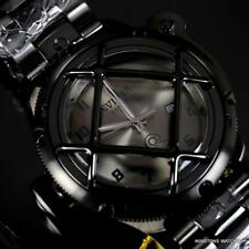 Invicta Russian Diver Nautilus Lefty Black Combat Cage Stainless Steel Watch New