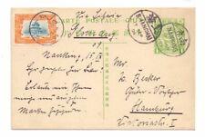 CHINA 1909 1c CARD UPRATED 3c USED NANKING TO GERMANY