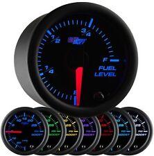 GlowShift 52mm Black 7 Color LED Adjustable Fuel Level Gauge - GS-C715