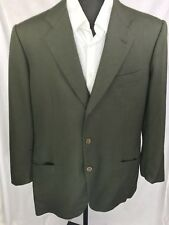 Kiton Dark Green 100% Wool Sport Coat Blazer 42