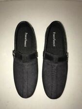 Franco Vanucci ROBERTO-15 Men's Slip On Driver Shoes Black Size 7.5