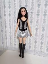 Barbie Dress Outfit Cloth Fashion Plus Black Boot shoe FR 12 inches doll