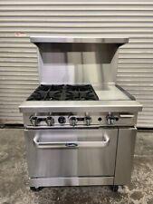 Open Box 36 Gas Range 12 Griddle 4 Open Burner Std Oven Atosa Ato 12g4b 6154