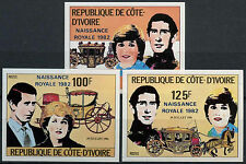 Ivory Coast 1982 Royal Baby Birth MNH Imperf Set #A90501