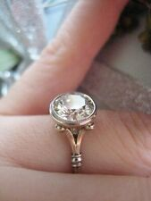 Art Deco 3.20 ct White Round Cut Diamond 925 Silver Engagement Vintage Ring