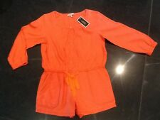 NWT Juicy Couture New Genuin Ladies Orange Cotton Play Suit Size Small UK 8 - 10