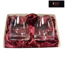 ARDE artesanal Cristal Clásico Redondo WHISKY BRANDY Vasos vaso juego de 2