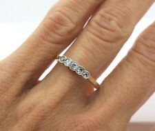 Antique Art Deco 18k Yellow Gold Platinum topped Diamond Ring