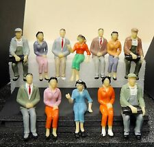 12 SEATED FIGURES FOR  TRAIN STATION SCENE, TRUE 1:24 G SCALE DIORAMA