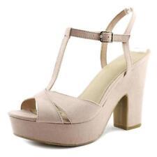 Zapatos de tacón de mujer plataformas Nine West ante