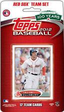 2012 Topps Boston Red Sox Factory Sealed Team Set Dustin Pedroia Ortiz Fenway