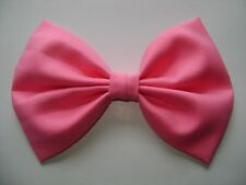 NEW FABRIC HAIR BOW W/ Alligator Clip * PINK * Handmade* FREE SHIPPING *********
