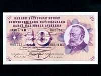 Switzerland:P-45q,10 Franken,1971 * Gottfried Keller * UNC *