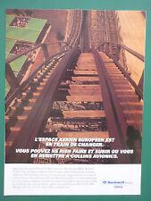 11/1996 PUB ROCKWELL COLLINS AVIONICS AVIONIQUE GRAND 8 MANEGE MONTAGNE RUSSE AD