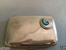 W.H.Hasler Sterling Silver Enamel Cigarett Case By Archibald Knox