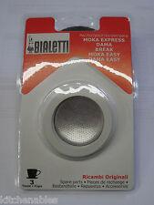 Bialetti Express 3 Gaskets & Filter Plate Replacement Set - 3 CUP Moka Esp
