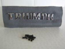 TRIUMPH HERALD VITESSE SPITFIRE GT6 TR2 - TR5 CHROME LETTER SET & CLIPS 703862-8