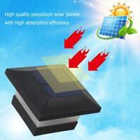 6LED Solarleuchte Pfosten Kappen Quadrat Zaun Licht Landschaftslam Fence Lampe~