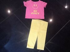 Juicy Couture New & Genuine Baby Girls Two Piece Set Age 6/12 MTHS With Logo