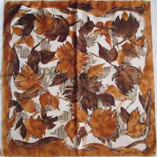 -Superbe  Foulard  JEAN DESSES 100% soie   TBEG  vintage scarf  75 x 78 cm