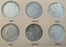 Complete Set Of 1878 - 1890 P/CC/O/S Mints Morgan Silver Dollars, Total 48 Coins
