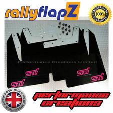 Impreza WRX / STI Mud Flaps Mudflaps 01-07 Bugeye Blobeye Hawkeye - BLACK (SPS)